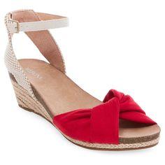 Women's Brynn Footbed Wedge Quarter Strap Sandals Merona - Red 7.5