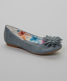 Take a look at this Denim Blue Yarina Flat by b.o.c on #zulily today!