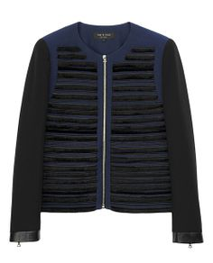 rag & bone Official Store, Gray Jacket, dark navy fl, Womens : Ready to Wear : Jackets & Blazers : Ja, W236402NJ