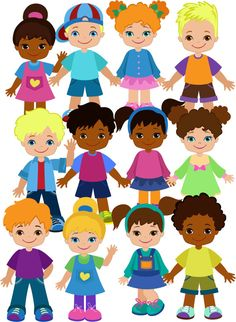 Doodle Kids and Faces. Big Bundle – Finance tips, saving money, budgeting planner Class Decoration, Classroom Crafts, Doodle Kids, Party Printables, Sunday School, Paper Dolls, Doodles, Clip Art, Activities