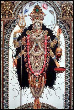 Kali by Roberto Custodio--Mother Kali, goddess of time/change/death / Embodied Kali Goddess, Mother Goddess, Goddess Art, Hindu Art, Shiva, Krishna, Indian Gods, Indian Art, Hinduism