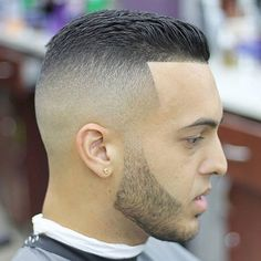 Hasta el borde del pelo - cepilló detrás Corte estilo + Fundido Piel