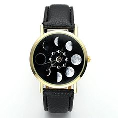 JSDDE Uhren,Fashion Damen Mondfinsternis-Muster Armbanduh…
