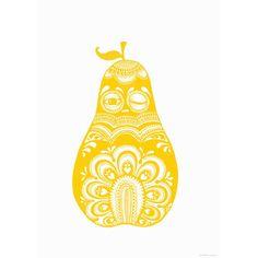 Folkloric Pear juliste, keltainen ryhmässä Julisteet / Julisteet / Väri & Muoto @ ROOM21.fi (112766)