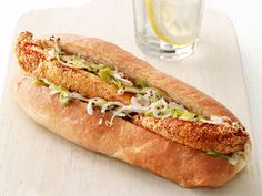 Fish Sandwiches With Jalapeno Slaw Recipe : Food Network Kitchen : Food Network - FoodNetwork.com
