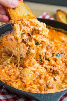 18 Delicious New Ways to Make Lasagna. Shown is lasagna dip. Also 17 other great recipes. Dip Recipes, Turkey Recipes, Appetizer Recipes, Cooking Recipes, Yummy Recipes, Mini Appetizers, Lasagna Recipes, Appetizer Dips, Cookbook Recipes
