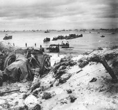 Beach during D-Day Invasion of Normandy
