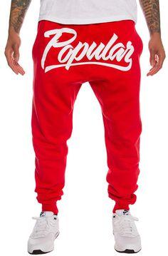 Popular Demand Pants Popular Script Jogger Red