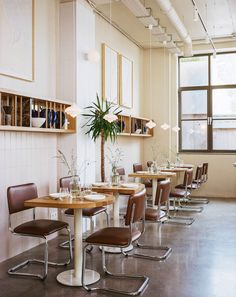 wear this there: nadzieja. | sfgirlbybay Cafe Design, Interior Design, San Francisco Girls, Bauhaus Style, Bistro Chairs, Restaurant, Table Settings, Dining, Poland