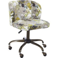 Green Floral Print Office Chair - Chairs - Furniture - Home Accessories - Home - TK Maxx Tk Maxx, Home Accessories, Floral Prints, Green, Furniture, Chairs, Home Decor, Floral Patterns, Decoration Home