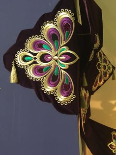 Hand Embroidery, Embroidery Designs, Ottoman Design, Goldwork, Edwardian Dress, Bed Runner, Cutwork, Paper Art, Bed Pillows