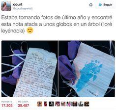 Tomando fotos encontró la emocional carta que un hombre escribió a su madre en el cielo
