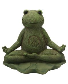 Awesome Yoga Frog Garden Statues By Buddha Groove.