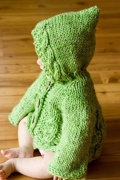 PDF Knitting Pattern Hooded Baby Sweater With by AvrellynRose