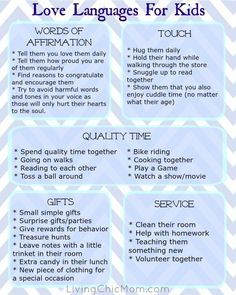How to REALLY show your kids you love them - 5 Love Languages - Living Chic Mom . - How to REALLY show your kids you love them – 5 Love Languages – Living Chic Mom How - Kids And Parenting, Parenting Hacks, Gentle Parenting Quotes, Mindful Parenting, Peaceful Parenting, Natural Parenting, Parenting Plan, Parenting Humor, Love Languages For Kids