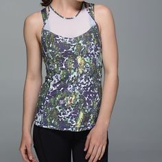 ‼️SALE‼️Lululemon running in the city tank Floral design NWT comes with lulu tote.Cool-to-the-touch, Luxtreme® fabric is sweat-wicking and four-way stretch with added LYCRA® fibre for great shape retention Mesh fabric panelling on the neck for added ventilation and coverage reflective details help keep you on the radar imported fit + function lululemon athletica Tops Tank Tops