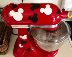 Disney Kitchen? Not complete without these kitchenaid Mickey Mixer Decals by Craftyinmypjs on Etsy, $8.00