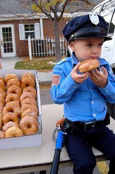 Disfraz policía americano.