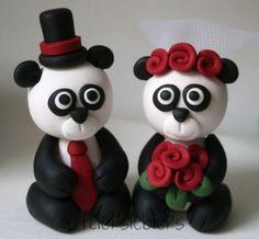 Panda Bear Wedding Cake Topper by fliepsiebieps1, via Flickr
