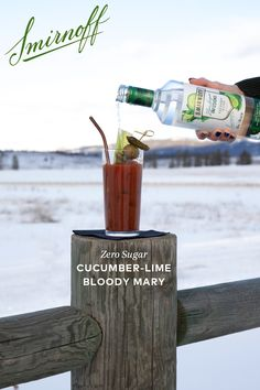 Smirnoff Zero Sugar Cucumber- Lime Bloody Mary The best part of is the brunch. The best part of the brunch is the Smirnoff Zero Sugar Cucumber Lime Bloody Mary. Liquor Drinks, Cocktail Drinks, Alcoholic Drinks, Beverages, Cocktails, Bloody Mary Bar, Alcohol Drink Recipes, Drink Specials, Smirnoff