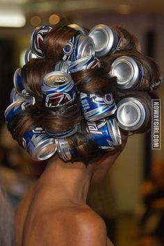Beer Can Hair Rollers - NoWayGirl