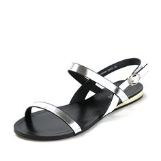 Summer light leather flats shoes/Open toe womens sandals * Check this awesome product by going to the link at the image.