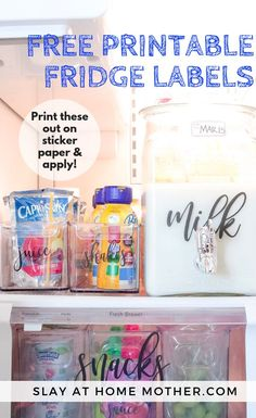 Print out these FREE printable labels and start organizing your fridge! These labels are a super cute way to organize your fridge and keep everything looking great. Deep Cleaning Checklist, Cleaning Hacks, Printable Labels, Free Printables, Clean Fridge, Fridge Organization, Thing 1, Real Moms, Printing Labels