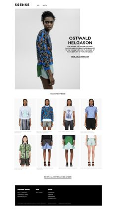 SSENSE fashion! We like breaking rules in such a positive and beautiful way!  #email #newsletter   /www.datemailman.com