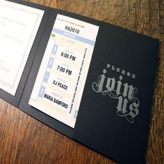nice 11 ticket style wedding invitations