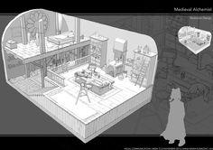Art by Feng Zhu Design* Illustration Art Drawing, Fantasy Illustration, Illustrations, Animation Background, Art Background, Game Room Design, Environment Concept Art, Visual Development, Environmental Art