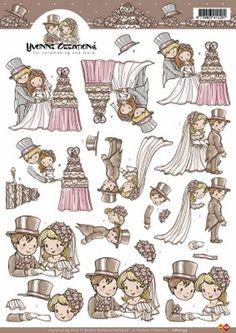 Card Deco Cut out sheet wedding/marriage CD 10199 - Wedding/Marriage