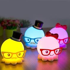 Strange New Cute Octopus Model Energy-Saving Small Night Light LED Desk Lamp – USD $ 19.99