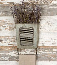 Very cute wall decor. Great to put in your kitchen to hang dishtowels off of! And then you can fill with dried flowers.  Spray the dried flowers with a dried