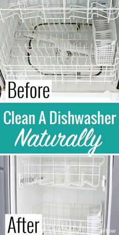 Clean and deodorize your dishwasher naturally and inexpensively, with these common household ingredients!