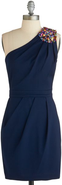 Bridesmaid dress?  Modcloth Deep Sea Date Dress in Blue (sea) - Lyst