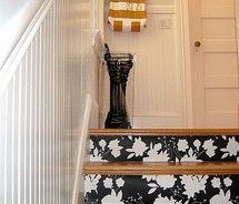 wallpaper for my stairs...well maybe not this one but great idea.