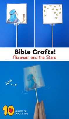 Abraham and the Stars Craft – Optical Illusion Craft Sunday School Crafts For Kids, Bible School Crafts, Sunday School Lessons, School Fun, Bible Activities For Kids, Bible Crafts For Kids, Preschool Bible, Abraham Bible Crafts, Bible Story Crafts