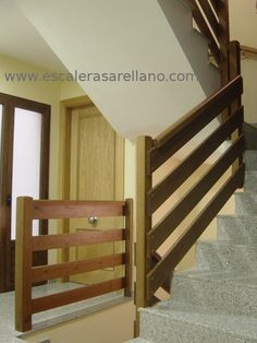 Stairway Railing Ideas, Loft Railing, Stair Railing, Under Basement Stairs, Basement Steps, Inside Home, Wooden Stairs, Cabin Design, Staircase Design