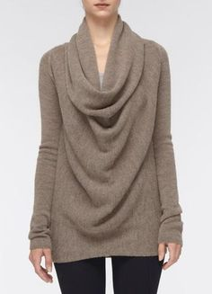 Drape Front Cowl Sweater