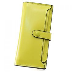 Simple PU Leather and Pure Color Design Wallet For Women #>=#>=#>=#>=#> Click on the pin to check out discount price, color, size, shipping, etc. Save and like it!