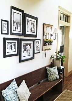 Foyer bench & pictures