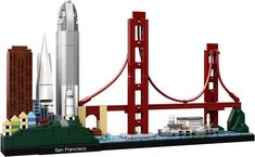 LEGO Architecture Skyline Collection 21043 San Francisco Building Kit includes Alcatraz model, Golden Gate Bridge and other San Francisco architectural landmarks Pieces) San Francisco Sights, San Francisco Attractions, San Francisco Skyline, Painted Ladies, Puente Golden Gate, Modele Lego, San Francisco Architecture, Transamerica Pyramid, Shop Lego