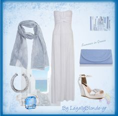 """Summer in Greece - 4"" by legallyblonde-gr ❤ liked on Polyvore"