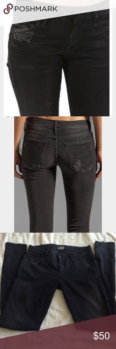 """Mother Denim in The Looker in Destroyed Ride Great condition. Very soft denim. Length: 39.75"""", , waist: 16"""", rise: 8"""". MOTHER Jeans Skinny"""