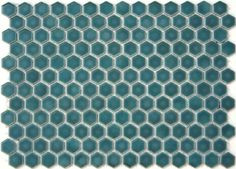 Lyric 1 x 1 Glazed Porcelain Mosaic Hex Tile in Dream Green | Mosaic Tile Supplies