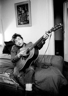 """""""Bob Dylan in his Greenwich Village apartment, 1964. """""""