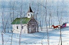'Church in the Woods' (Eyler's Valley Chapel) ... P. Buckley Moss