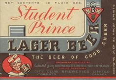 Student Prince Lager Beer by Thomas Fisher Rare Book Library, via Flickr