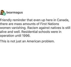 Well not just a US problem. Canada is part of America but in all honesty, it's isn't just an American issue. It's everywhere