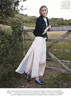 """Far from the Madding Crowd"": Eve Delf at Thomas Hardy's Childhood Home by Perry Ogden for Stylist Magazine #179"